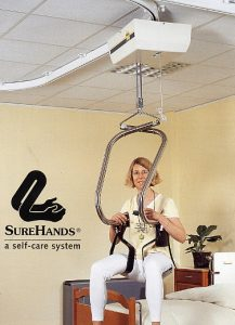 The SureHands® Ceiling track installations